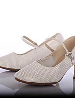 Women's Modern Leatherette Heel Outdoor Customized Heel Gold Customizable