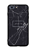 billige -Til iPhone X iPhone 8 Etuier Mønster Bagcover Etui Marmor Hårdt Akryl for Apple iPhone X iPhone 8 Plus iPhone 8 iPhone 7 Plus iPhone 7