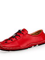 Для мужчин обувь Кожа Весна Осень Удобная обувь Туфли на шнуровке Пуговицы Назначение Повседневные Для вечеринки / ужина Черный Серый