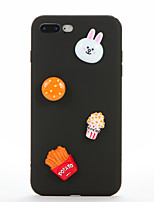cheap -Case For Apple iPhone 7 Plus iPhone 7 DIY Back Cover 3D Cartoon Soft Silicone for iPhone 7 Plus iPhone 7 iPhone 6s Plus iPhone 6s iPhone