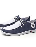 Da uomo Scarpe Tessuto Estate Autunno Comoda Suole leggere Sneakers Lacci Per Casual Grigio Blu