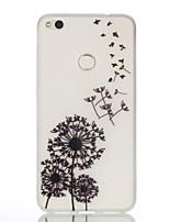 Недорогие -Кейс для Назначение Huawei P9 / Huawei P9 Lite / Huawei Сияние в темноте / С узором Кейс на заднюю панель одуванчик Мягкий ТПУ для P10 Lite / P10 / Huawei P9 Lite