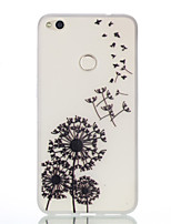 baratos -Capinha Para Huawei P9 / Huawei P9 Lite / Huawei Brilha no Escuro / Estampada Capa traseira dandelion Macia TPU para P10 Lite / P10 / Huawei P9 Lite