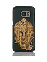 cheap -For Samsung Galaxy S7 edge S6 Case Cover Elephant Pattern Case Back Cover Case Hard Bamboo and PC Material Combination S7 S6 edge