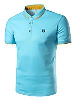 cheap -Men's Sports Cotton Polo - Solid Shirt Collar