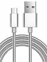 Micro-USB 3.0 A calamita Portatile Cavi Per Samsung Huawei Sony Nokia HTC Motorola LG Lenovo Xiaomi 100 cm Metallo