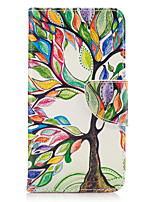 cheap -For Samsung Galaxy J3(2016) J5(2016) J3 Prime Case Cover Tree Pattern PU Material Painted Mobile Phone Case