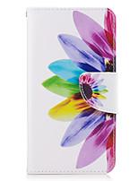 baratos -Capinha Para Samsung Galaxy J5 (2016) J3 (2016) Porta-Cartão Carteira Com Suporte Flip Corpo Inteiro Flor Rígida Couro Ecológico para J5