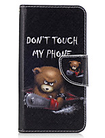 cheap -For Samsung Galaxy J3(2016) J5(2016) Case Cover Bear Pattern PU Material Painted Mobile Phone Case  J3 Prime
