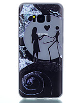 cheap -For Samsung Galaxy S8 Plus S8 TPU Material Moon Couple Pattern Luminous Phone Case S7 Edge S7 S6 Edge Plus S6 S5 S4 Mini S4 S3
