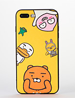 cheap -For Apple iPhone 7 Plus Case Back Cover Case Soft Silicone Cartoon Pattern for Apple iPhone 7 iPhone 6s Plus/6 Plus iPhone 6s/6