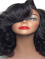 Hot Sale Short Brazilian Human Virgin Hair Body Wave Glueless Full Lace Wig With Baby Hair Natural Black Color Wholesale