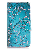 cheap -For Samsung Galaxy A3(2016) A5(2017) Case Cover Plum Blossom Pattern PU Material Painted Mobile Phone Case A3(2017) A5(2016)