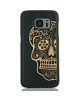 cheap -For Samsung Galaxy S7 edge S6 Case Cover Skull Pattern Case Back Cover Case Hard Bamboo and PC Material Combination S7 S6 edge
