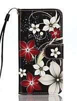 cheap -For Card Holder Wallet with Stand Flip Pattern Case Full Body Case Flower Hard PU Leather for Apple iPhone 7 Plus iPhone 7 iPhone 6s Plus/6