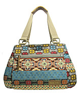 Women Bags All Seasons Canvas Shoulder Bag Pattern / Print for Casual Maroon