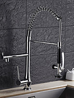 cheap -Contemporary Pull-out/­Pull-down Vessel Rotatable Ceramic Valve Single Handle One Hole Chrome, Kitchen faucet