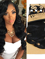 cheap -synthetic body wave 3 bundles natural body wave style with one closure one clip hair in pack blue pink purple green brown black color