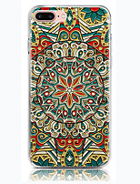 baratos -Capinha Para Apple iPhone 7 Plus iPhone 7 Transparente Capa traseira Mandala Macia TPU para iPhone 7 Plus iPhone 7 iPhone 6s Plus iPhone