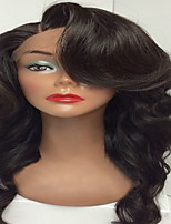 Hot Sale Virgin Human Hair Wig Glueless Full Lace Wigs With Baby Hair Body Wave Natural Black Color For Black Woman Wholesale