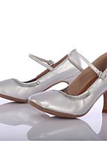 Women's Modern Leatherette Heel Outdoor Customized Heel Silver Customizable