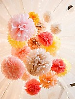 abordables -Fleurs de pom papier de soie de 14 pouces (lot de 6) beter gifts® debutante ball party decoration
