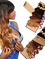 abordables -Otros 1 paquete Trenzas de cabello Ondulado Medio castaño medio Morado Azul Verde Gris Cabello para trenzas Extensiones de cabello