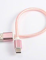 USB 2.0 Type C Braided Nylon Cable For Samsung Huawei Sony Nokia HTC Motorola LG Lenovo Xiaomi 20 cm