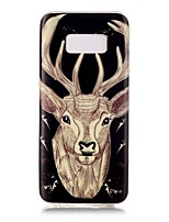 cheap -For Samsung Galaxy S8 Plus S8 Case Cover Deer Pattern Luminous TPU Material IMD Process Soft Case Phone Case S7 S6 (Edge) S7 S6 S5