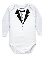 Baby Solid One-Pieces,Cotton All Seasons Long Sleeve