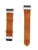 economico -per la carica Fitbit 2 banda sostituzione di lusso vigilanza del cuoio genuino cinghia braccialetto di modo della fascia