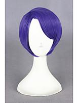 cheap -Short Tokyo Ghoul Wig Shuu Tsukiyama Wig Cosplay Purple Synthetic 12inch Anime Cosplay Costume Hair Wig CS-195I
