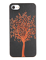 economico -Custodia Per iPhone 7 Plus iPhone 7 Apple Fantasia/disegno Decorazioni in rilievo Per retro Albero Resistente di legno per iPhone 7 Plus