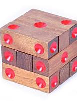 abordables -Puzzles en bois IQ Casse-Tête Cadenas Jouets Carré Test de QI Unisexe 1 Pièces