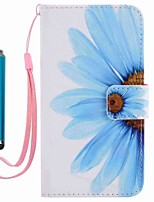cheap -For Samsung Galaxy A5(2016) A3(2016) Case Cover with Stylus Sunflower Painted PU Phone Case