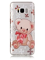 cheap -For Samsung Galaxy S8 Plus S8 Case Cover Bear Pattern High Permeability TPU Material IMD Craft Phone Case S7 S6 (Edge) S7 S6 S5