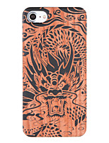 economico -Custodia Per iPhone 7 Plus iPhone 7 Apple Fantasia/disegno Decorazioni in rilievo Per retro Animali Resistente di legno per iPhone 7 Plus
