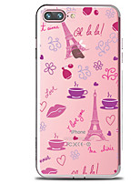 preiswerte -Hülle Für Apple iPhone 7 Plus iPhone 7 Transparent Muster Rückseite Blume Eiffelturm Weich TPU für iPhone 7 Plus iPhone 7 iPhone 6s Plus