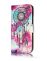 cheap -For Samsung Galaxy A3(2017) A5(2017) Case Cover Wind Chimes Pattern Painted Card Holder PU Leather Material Mobile Phone Case A3(2016) A5(2016)