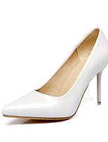 abordables -Mujer Zapatos Semicuero Primavera Verano Confort Tacones Tacón Stiletto Dedo Puntiagudo para Boda Vestido Blanco Negro Rojo Verde Rosa