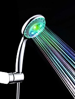 Contemporary A Grade ABS Chrome Finish 7 Colors LED Shower Hand
