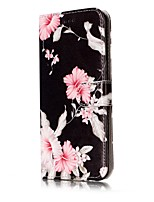 cheap -For Samsung Galaxy S7 S8 Case Cover Flower Pattern Painted Card Holder PU Leather Material Mobile Phone Case S5 S6 S7Edge S6Edge