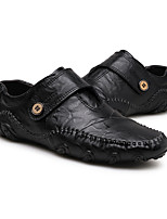 Men's Shoes Leather Fall Winter Driving Shoes Loafers & Slip-Ons Buckle For Casual Brown Black