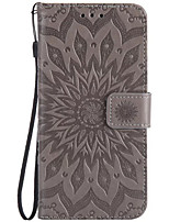 cheap -Case For LG K8 LG LG K5 LG K4 LG Nexus 5X LG K10 LG G5 Card Holder Wallet Flip Embossed Full Body Cases Flower Hard PU Leather for LG X
