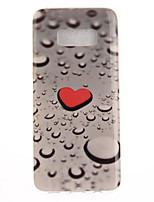 cheap -For Samsung Galaxy S8 Plus S8 Case Cover Love Water Drops Pattern HD Painted TPU Material IMD Process Phone Case S7 edge S7 S6 edge S6