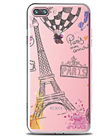 baratos -Capinha Para Apple iPhone 7 Plus iPhone 7 Transparente Estampada Capa traseira Palavra / Frase Torre Eiffel Macia TPU para iPhone 7 Plus