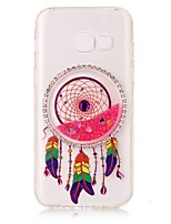 cheap -For Samsung Galaxy A3(2017) A5(2017) DIY Rhinestone Transparent Case Back Cover Case Glitter Shine Dream Catcher Soft TPU