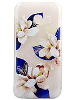 cheap -For Samsung Galaxy A3 (2017) A5 (2017) Case Cover Blue Flowers Pattern Painted High Penetration TPU Material Soft Case Phone Case