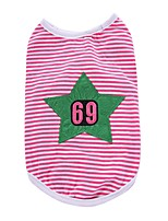 Dog Shirt / T-Shirt Vest Dog Clothes Party Casual/Daily Birthday Holiday Fashion Sports Wedding Stars Fuchsia Yellow