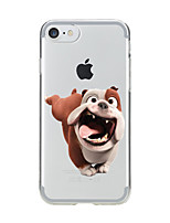 billige -For Transparent Mønster Etui Bagcover Etui Hund Blødt TPU for AppleiPhone 7 Plus iPhone 7 iPhone 6s Plus iPhone 6 Plus iPhone 6s iPhone 6